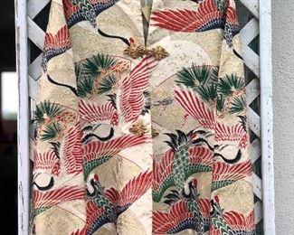 Vintage Chinese crane jacket