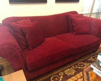 red contemporary super comfy sofa