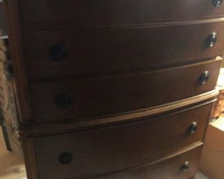 old timey highboy dresser