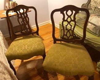 Two invisible sumo wrestlers sitting in Victorian chairs. See how well they hold up?