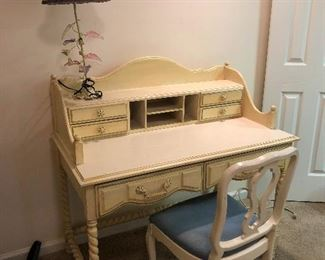 cute secretary desk with matching chair. Joan Holloway style