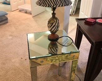 this side table is  made of mirrors! You gotta see it.