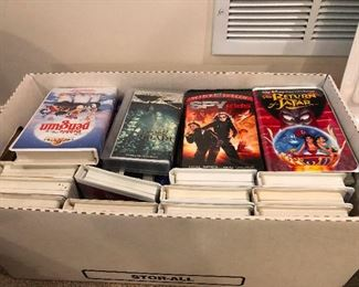 VHS tapes! Boxes!