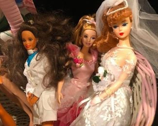 """Red hair poodle bang vintage barbie in wedding dress ready to be disillusioned by life"" doll"