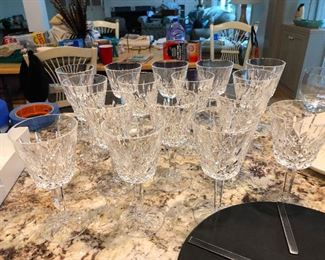 crystal goblets wine glasses