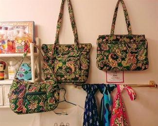 Vera Bradley purses and luggage