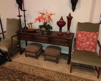 Ethan Allen Chairs, foot stools