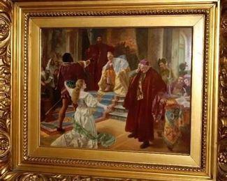 "Important ""KPM"" Painting on Porcelain by ""Baerscainder"" 12"" x 9 1/2"""