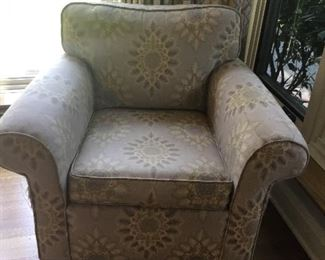Arm chair in need of slipcover or upholstery $60