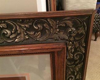 Carved wooden large frame
