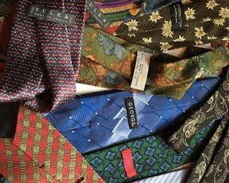 Italian and French silk designer ties $55