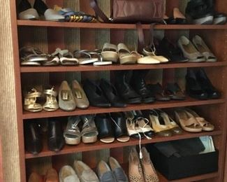 Designer shoes, many unworn or in excellent condition