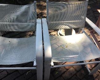 Vintage BROWN JORDAN Patio chairs $200