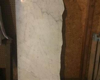 2 large marble slabs, enough to make 2 counters/tables approximately 4 ft long