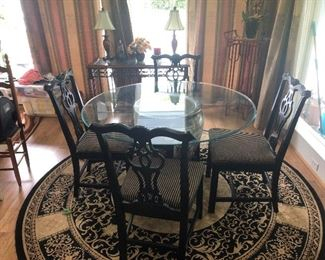 ORIENTAL TABLE & CHAIRS