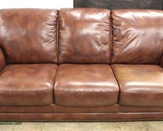 LIKE NEW Leather Sofa  Auction Estimate $200-$400 – Located Inside