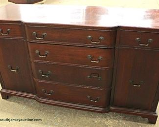 "SOLID Mahogany ""Georgetown Galleries"" Buffet  Auction Estimate $100-$300 – Located Inside"