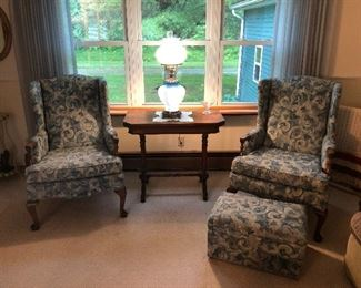 Nice Set of Wingback Chairs
