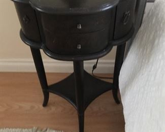 Set of two dark brown wood end table in excellent condition  Original price:&299 Sale price $80