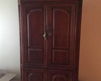 Light brown cherry wood Armoire Perfect to store your TV and other electronic devices or for any other purposes.   Original price $2999 Sale price $250