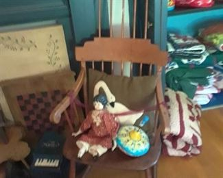 Early comb-back rocking chair