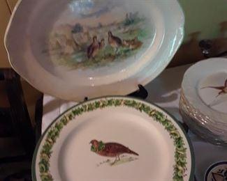 Christmas bird plates