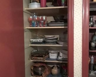 Pantry filled with kitchenware