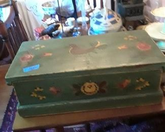 Folkart painted box