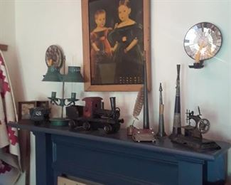 Horns, miniature sewing machine,sconces, and more