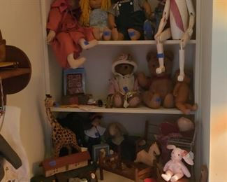 Toys, dolls, stuffed animals, old and newer