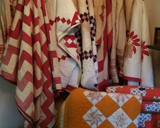 Great selection of vintage and antique quilts
