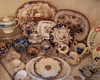 Great selection of 19th century English ceramics