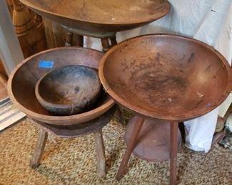 Old dough bowls