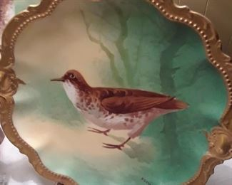 Game plate, artist signed