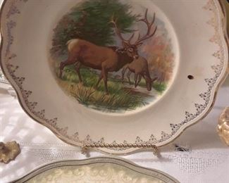 Hunt plates featuring stag