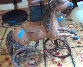 Toy horse tricycle
