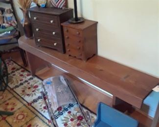 Doll chests, sleds, benches