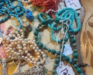 Coral, turquoise, jade, fayx pesrls, and more
