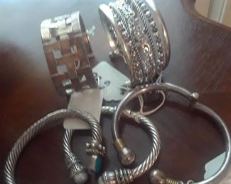 Sterling bracelets
