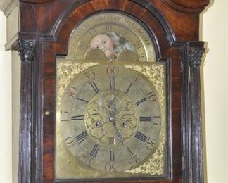 Samuel Whalley Manchester grandfather clock - Circa 1770 - 1780's  (Revolutionary War period)