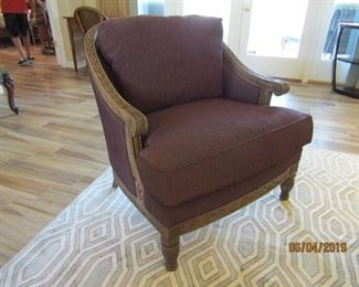 PAIR OF CASUAL CHAIRS.. GREAT FABRIC