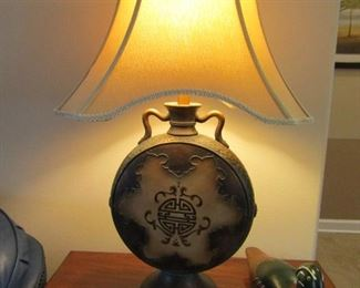 ORIENTAL DESIGN LAMP AND IT LOOKS GREAT WITH EVERYTHING