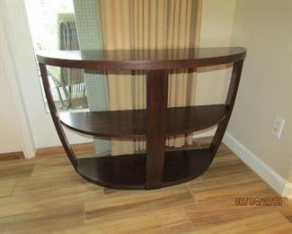 1/2 SIDE TABLE OF FLAT WALL TABLE.. VERY CONTEMPORARY BUT PERFECT ANYWHERE