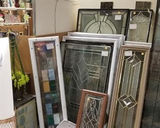 "Take 30% off Assorted Low E stain glass inserts Starting at $95 to $575 for full 22"" x 64"" full view. Prices listed are before the discount"