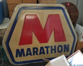 Vintage 5 foot marathon sign Was $695 Now $350
