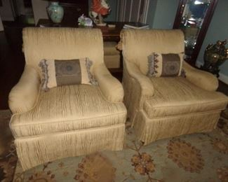 Pair Club Chairs by Councill