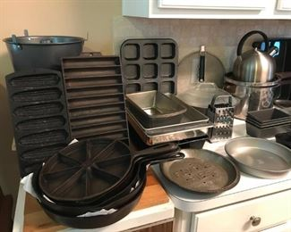 Cast Iron pieces with baking pans