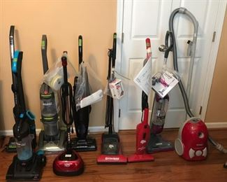 Lot of vacuums~Most Like new with Manuals