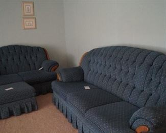 couch and loveseat, has matching chair and ottoman
