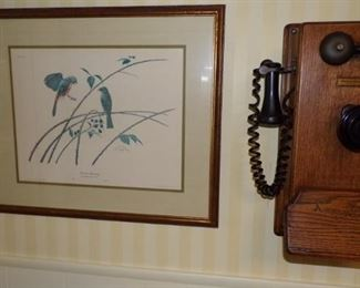 vintage Wall Mount Telephone, picture